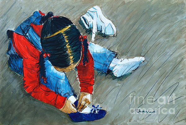 Shoe All New For Tanisha Painting  - Shoe All New For Tanisha Fine Art Print