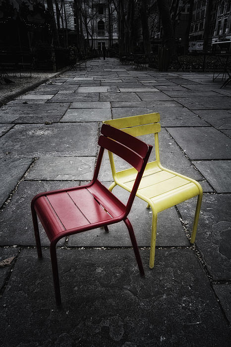 Chair Photograph - Side By Side by Russell Styles