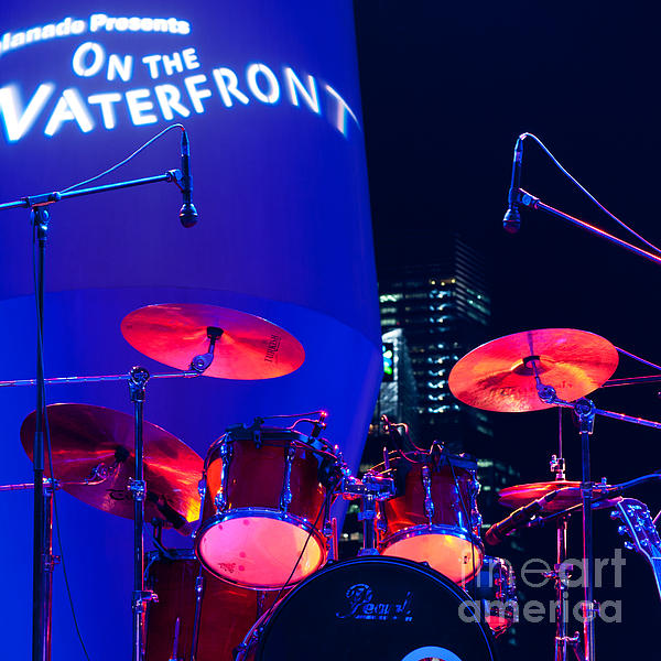 Singapore Photograph - Singapore Drum Set 01 by Rick Piper Photography