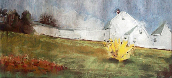 Maine Landscape Pastel - Slowly Comes Spring by Grace Keown