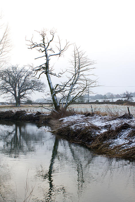 Beautiful Photograph - Snow Scene With River Running Through by Fizzy Image