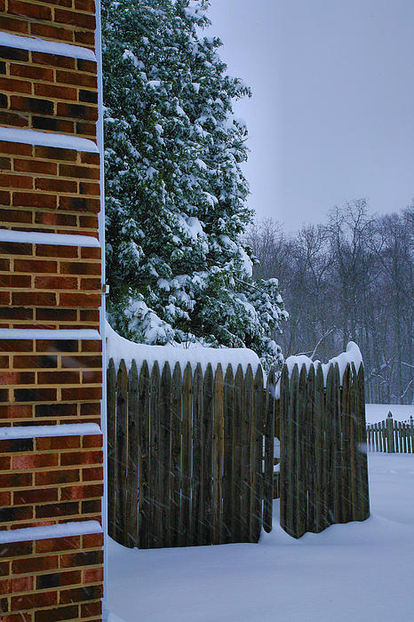 Snow Photograph - Snowy Corner by Steven Ainsworth