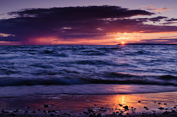 Glen Arbor Photograph - South Manitou Sunset by Thomas Pettengill
