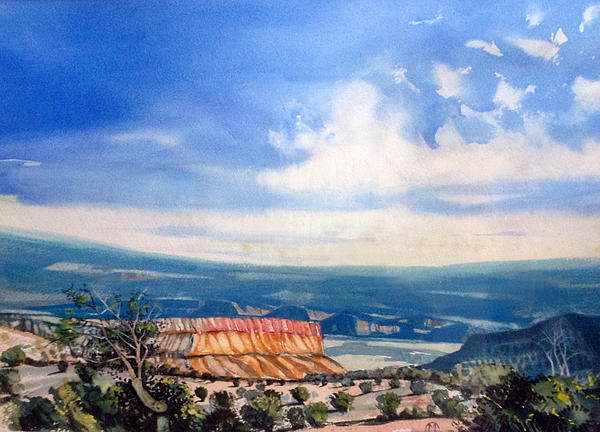 Watercolor Painting - Southern Utah Panorama by Matthew Chatterley