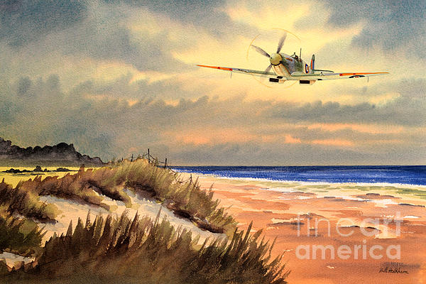 Spitfire Mk9 - Over South Coast England Painting