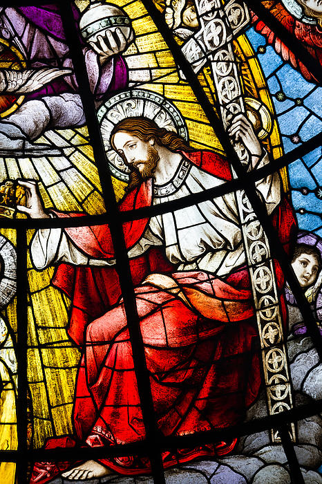 Architecture Photograph - Stained Glass Jesus by Dancasan Photography