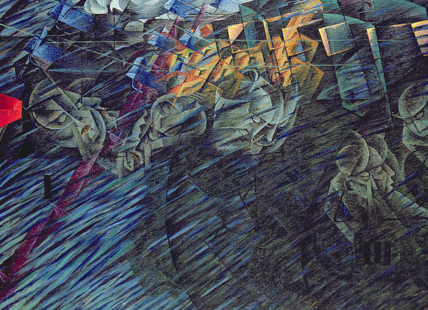 Modern Painting - States Of Mind    Those Who Go by Umberto Boccioni