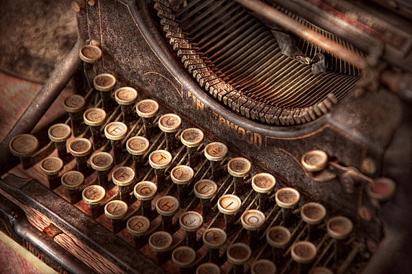 Mike Savad - Steampunk - Typewriter - Too tuckered to type