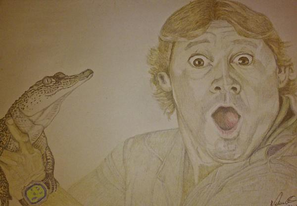 Melissa Nankervis - Steve Irwin and a fresh water Croc