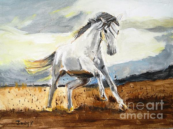 Horses Painting - Stomping Ground by Judy Kay