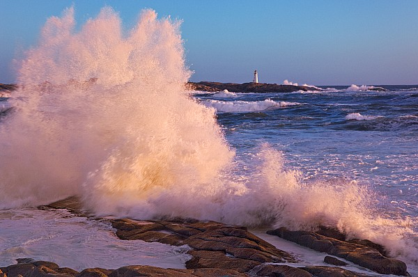 Light Photograph - Strong Winds Blow Waves Onto Rocks by Thomas Kitchin & Victoria Hurst