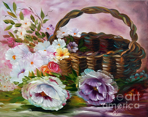Ilona Tigges - Goetze - Summerflowers in  Basket 1