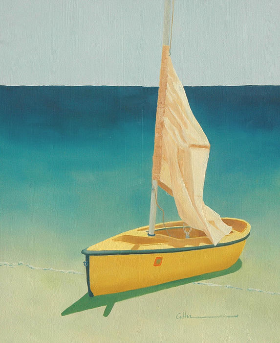 Boat Painting - Summers Boat by Diane Cutter