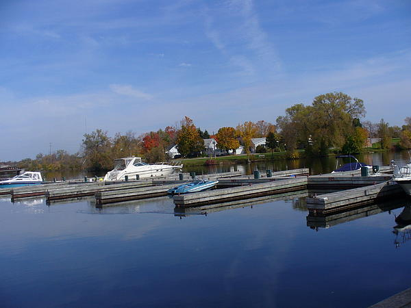 Lingfai Leung - Sunny Reflections at Harbor of Peterborough Ontario
