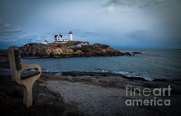 Sunset Photograph - Sunset At Nubble Light House by Sue OConnor