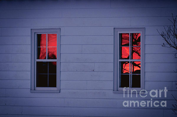 Sunset Sky Photograph - Sunset In The Windows by Cheryl Baxter
