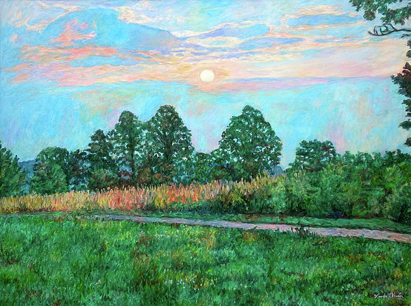 Sunset Near Fancy Gap Painting  - Sunset Near Fancy Gap Fine Art Print