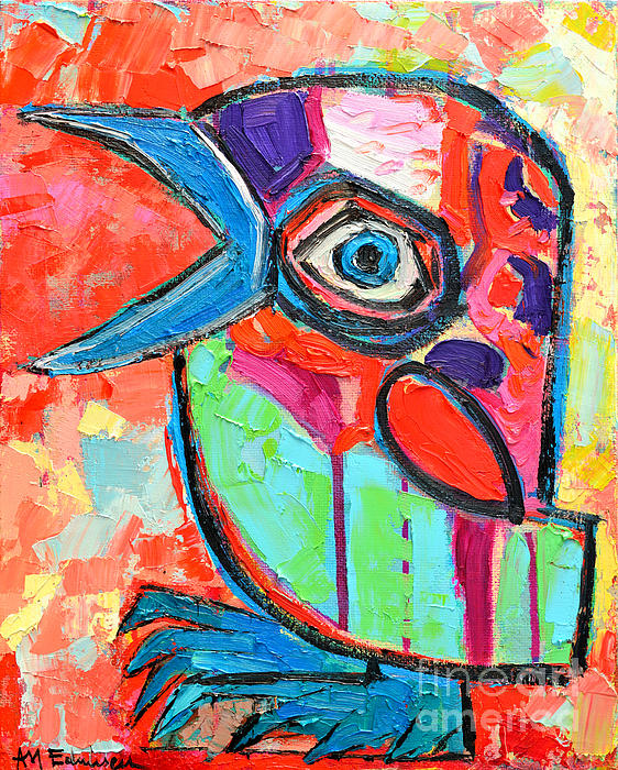 Baby Painting - Talkative Baby Bird First This Spring by Ana Maria Edulescu