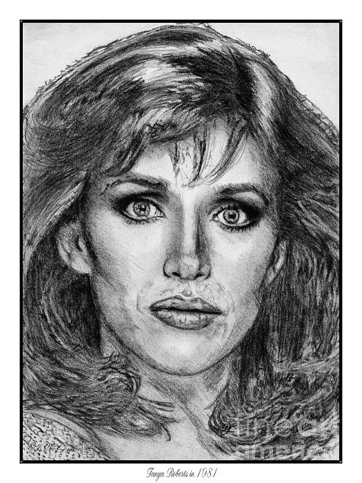Mccombie Drawing - Tanya Roberts In 1981 by J McCombie