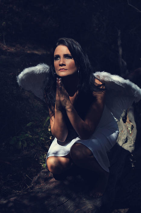 Angels Photograph - The Angel Prayed by Laurie Search