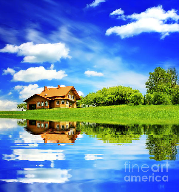 Beautiful House Photograph - The Beautiful House by Boon Mee