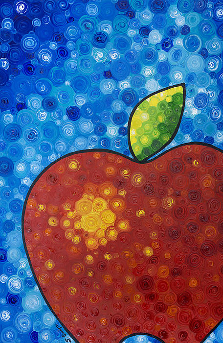 Sharon Cummings - The Big Apple - Red Apple By Sharon Cummings