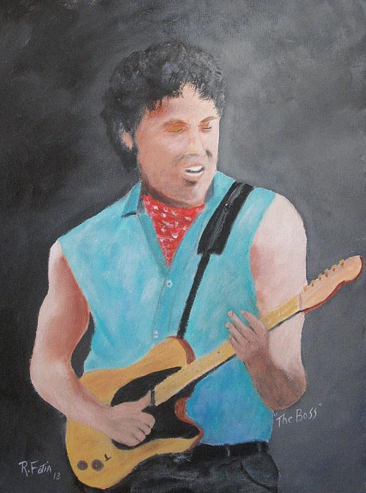Springsteen Painting - The Boss by Rich Fotia