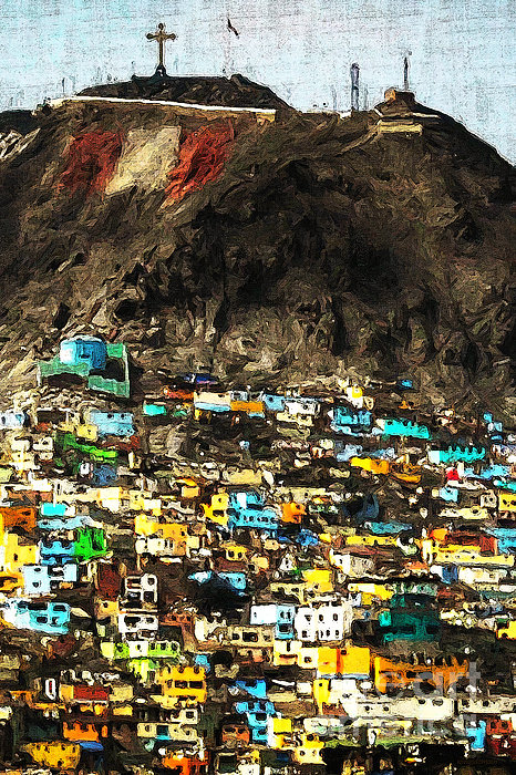 Peru Photograph - The City On The Hill V2 by Wingsdomain Art and Photography