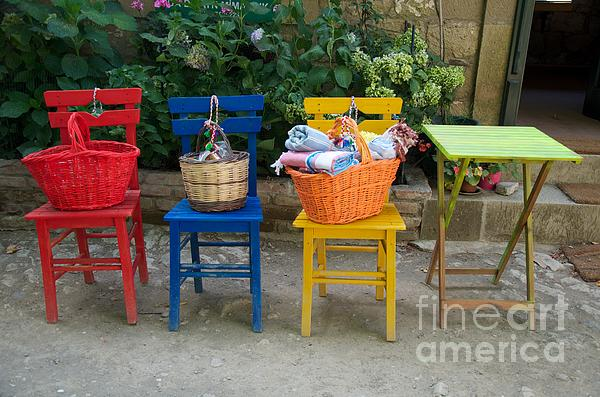 The Colorful Chairs Photograph