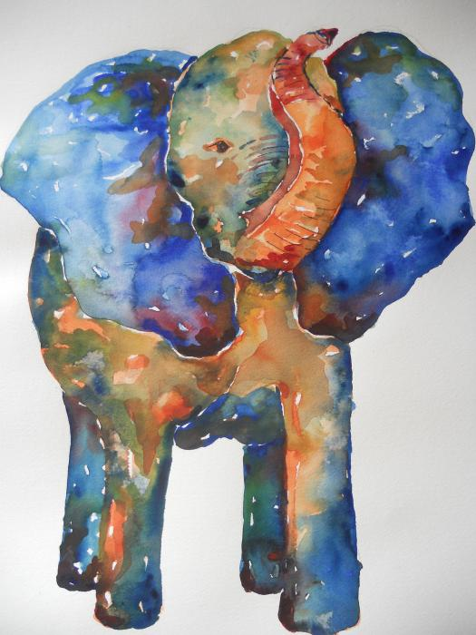 The Colorful Elephant Painting  - The Colorful Elephant Fine Art Print