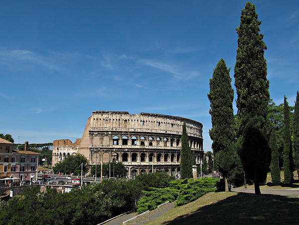 Rome Photograph - The Colosseum In Rome by Kiril Stanchev