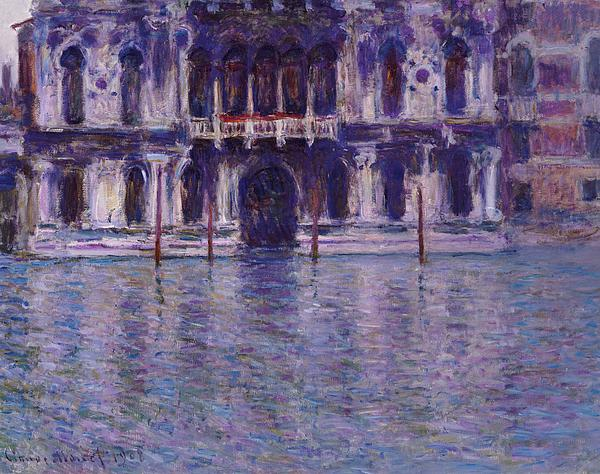 Contarini Palace; Palais Contarini; Impressionist; Venice; Venetian; Purple; Atmospheric; Picturesque; Architecture; Italy; Italian; Canal Painting - The Contarini Palace by Claude Monet