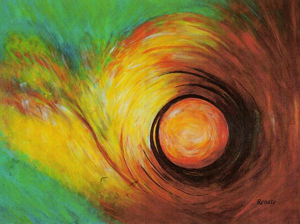 Abstract Art Painting - The Eye Of The Storm..... by Renate Dartois
