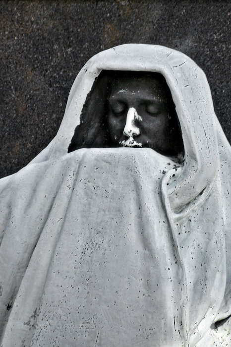 Graveyard Photograph - The Face Of Death - Graceland Cemetery Chicago by Christine Till