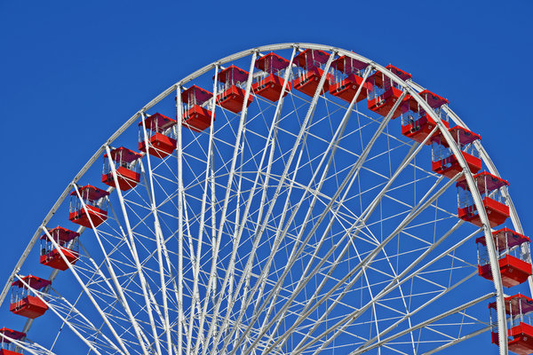 Wheels Photograph - The Ferris Wheel Chicago by Christine Till
