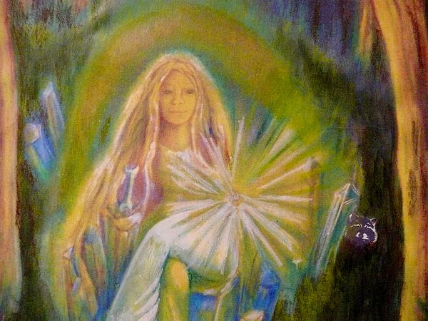 The Lady Of Light Painting  - The Lady Of Light Fine Art Print