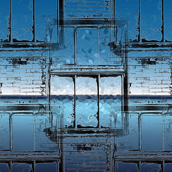 Abstract Digital Art - The Looking Glass Reprised by Tim Allen