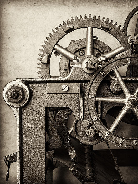 Clock Photograph - The Machine by Martin Bergsma