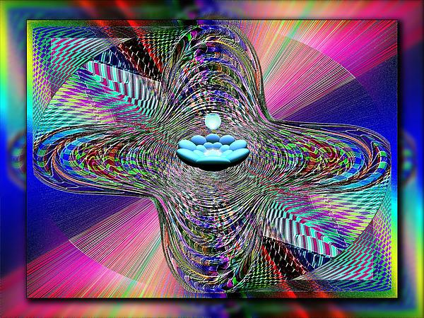 Orb Digital Art - The Orb And The Bowl by Tim Allen