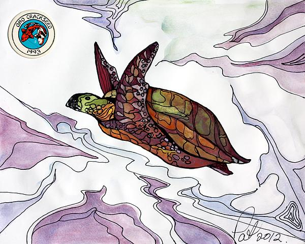 The Painted Turtle Painting  - The Painted Turtle Fine Art Print