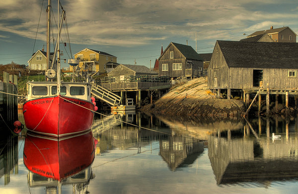 The Red Boat at Peggys Cove
