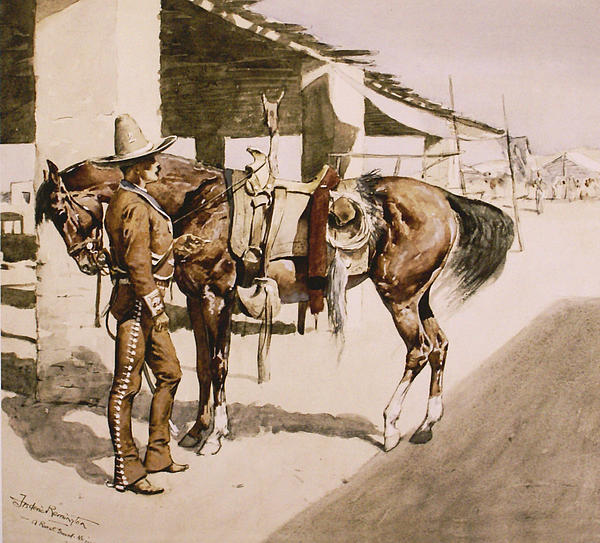 Frederic Remington Digital Art - The Rural Guard Mexico by Frederic Remington