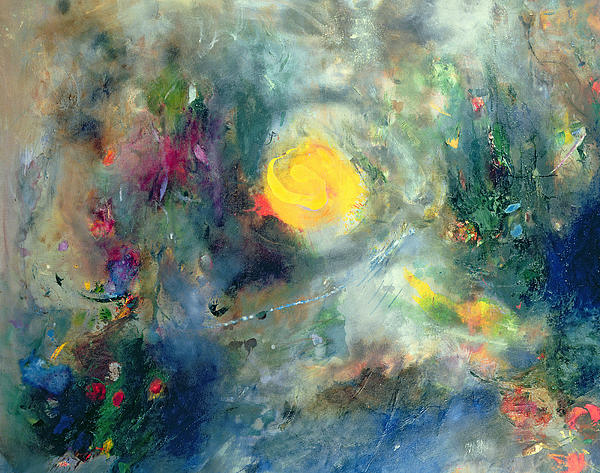 Abstract; Swirl Painting - The Sacred Spiral by Jane Deakin