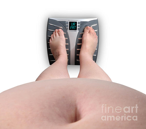 Abdomen Photograph - The Scale Says Series Ur Fat by Amy Cicconi