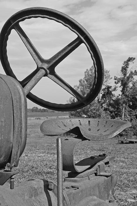 Tractor Photograph - The Tractor Seat by Heather Allen