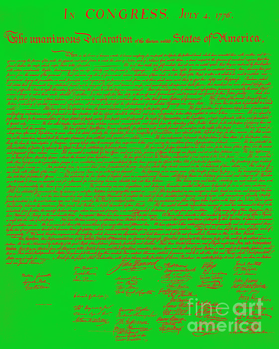 Usa Photograph - The United States Declaration Of Independence 20130215 by Wingsdomain Art and Photography