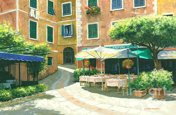 Portofino Cafe Painting - The Way Home by Michael Swanson