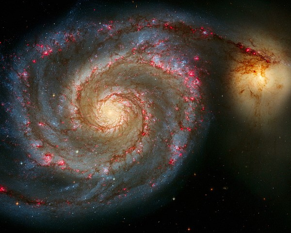 Astronomy Photograph - The Whirlpool Galaxy M51 And Companion by Don Hammond