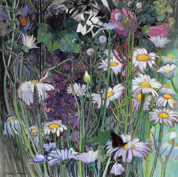 Flower Painting - The White Garden by Claire Spencer