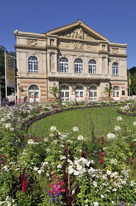 Baden-baden Photograph - Theater Building Baden-baden Germany by Matthias Hauser